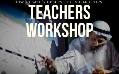 ورشة مجانية للمعلمين في مركز الثريا الفلكي لكيفية مراقبة كسوف الشمس بأمان